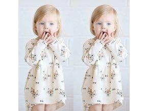 Detské oblečenia- dievčenské roztomilé letné šaty s líškou NOVINKA