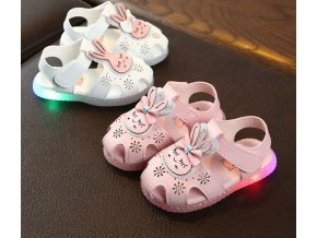 Detské topánky- LED svietiace letné topánky pre dievčatá