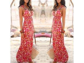 Dámske plážové letné dlhé šaty až 2XL AKCIA