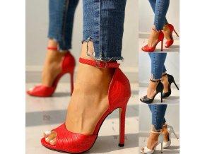 Dámske topánky- Luxusné dámske topánky na podpätku NEW