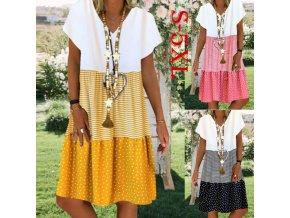 Dámske letné pohodlné šaty pre plnoštíhle až 5XL
