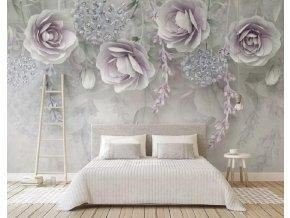 Tapety na stenu - samolepiace tapeta s motívom kvetín, dekorácie AKCIA