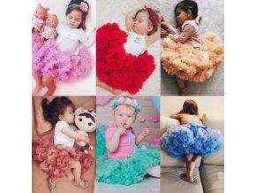 Detské oblečenia- dievčenské TUTU letné sukne s mašľou - viac farieb