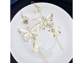 Darčeky pre ženy- náušnice s motýľmi v troch farbách- Vianočné darčeky, Výpredaj skladu