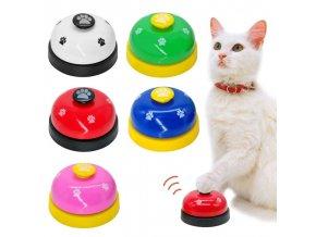 Mačka - pes - hračka pre mačky -hračka pre psa - zvonček - viac farieb