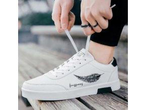 Pánske topánky - tenisky - módne tenisky s potlačou peria