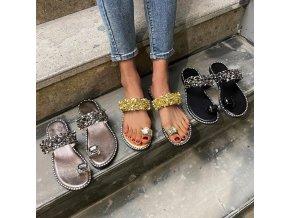 Letné topánky - dámske sandále - výpredaj skladu - krásne a pohodlné topánky zdobené kamienkami