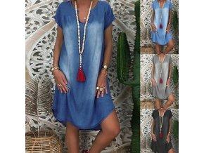 Dámske oblečenie - šaty - džínsové šaty - denim - leto - letné džínsové pohodlné šaty