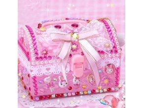 Hračky pre deti - hračky pre dievčatá - tvorenie - kreativita - dievčenské box na šperky s lepením kamienkov