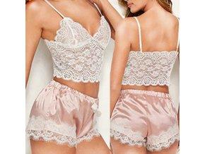 Spodná bielizeň - dámske prádlo - čipkovaná podprsenka - kraťasky - set na spanie - darček pre ženy