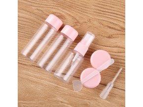 Cestovanie - kufor - kozmetika - kozmetické fľaštičky - sada cestovných fľaštičiek na kozmetiku
