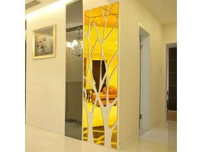 Zrkadlo - dekorácie - strom - nástenné nalepovacie zrkadlo v tvare stromu - nástenné dekorácie