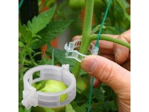Svorky na rastliny - záhrada - pestovanie paradajok - svorka na upevnenie rastlín 50ks