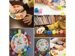 Deti - hračky pre deti - vzdelávacie hračky - drevené hračky - detské hodiny