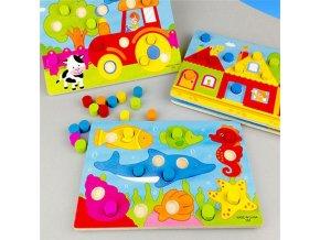 Deti - hračky pre deti - vzdelávacie hračky - drevené hračky - detská skladacia hra podľa farieb