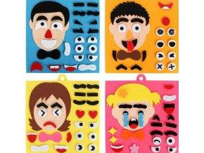 Deti - hračka pre deti - kreativita - tvorenie - vtipné lepenie tvárí