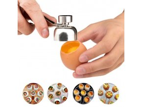Kuchyňa - vajce - nástroj na odstránenie špičky škrupiny - vajce na tvrdo - výpredaj skladu - darček k Vianociam