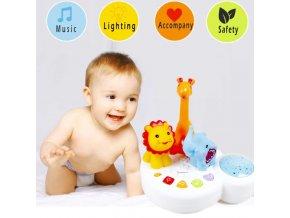 Detské hračky - hračky pre novorodencov - hračka vydávajúca hudbu a svetlo - zvieratá - darček pre deti