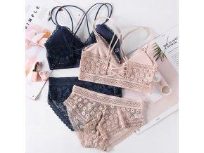 Dámska spodná bielizeň - spodná bielizeň - set - podprsenky - nohavičky - krásny krajkovaná set