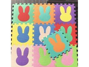 Deti - puzzle - penové puzzle - detské penové puzzle sa zajacom - darček pre deti