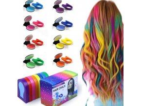 farby na vlasy - 8 kriedových farieb na vlasy vhodné na párty alebo festival - účesy