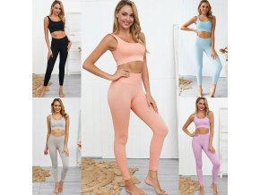 Športové oblečenie - dámske legíny - športové legíny - fitness - dámsky športový jednofarebný set na cvičenie