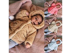 Oblečenie - detské oblečenie - oblečenie pre bábätká - detský zimný chlpatý kabátek- viac farieb - výpredaj skladu
