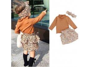 Oblečenie - detské oblečenie - krásny jesenný set pre dievčatko sukne + rolák + čelenka - sukňa - výpredaj skladu
