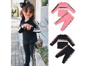 Oblečenie - detské oblečenie - dievčenskú tepláková súprava s leopardím vzorom - tepláky - mikina - vianočný darček