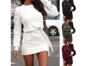 Dámske oblečenie - DÁMSKE šaty - šaty - krásne jednofarebné šaty s viazaním - darček pre ženu - výpredaj skladu