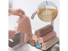 kuchyně - kuchyňské utěrky - čistící hadřík z mikrovlákna do kuchyně - mikrovlákno - dárek k vánocům