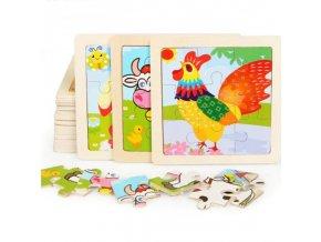 deti - hračky pre deti - drevené hračky - vzdelávacie drevené puzzle - puzzle - darček pre deti - vianočný darček