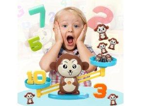 Hračky - matematika - darček k Vianociam - detská hra na rozvoj vzdelania vyvažovanie čísel - darček pre deti