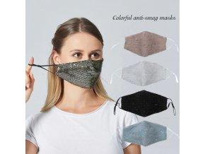 Rúška - nano rúška - módne rúška - trblietavá rúška s flitrami - VIAC FARIEB
