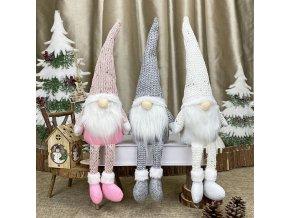 Dekorácie - vianoce - vianočné dekorácie - vianočný škriatok - krásny vianočný sediaci škriatok - vianočný darček