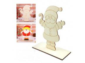 Hry - vianoce - vianočné dekorácie - vianočné tvorenia - detská vianočné zábava maľovanie na drevené panáčikov - maľovanie - drevené ozdoby