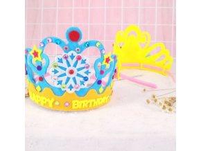 Hračky - detské tvorenie - korunka - hračky pre dievča - detská korunka ako čelenka na dotvorenie - detské tvorenie