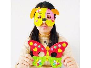 Hračky - detské tvorenie - maska - detská maska na domalovaný - maľovanie - vianočný darček