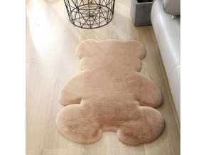 Detská izba - koberec - detský koberec - mäkký a príjemný koberec do detskej izby v tvare medvedíka - vianočný darček