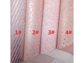 Látky - lacné látky - látka zo syntetickej kože v ružovej farbe - výpredaj skladu