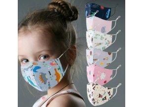 Rúška - rúška - detská rúško s roztomilými potlačami - detské rúška - detská rúška