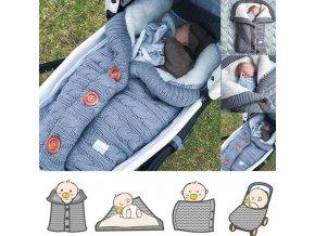 Bábätko - spací vak - deky - spací zimný zateplený vak pre novorodencov - výpredaj skladu