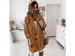 Dámske oblečenie - kabát - krásny elegantný kabát s gombíkmi - dámske zimné kabáty - dámske kabáty - darček pre ženu