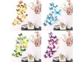 tapety - 3D samolepiace motýle na stenu - samolepiace tapeta - motýle - výpredaj skladu