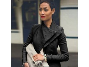 dámske oblečenie - dámska elegantná bunda s klopy - dámske jarné bundy - jarné bundy - výpredaj skladu bundy Viz také bunda