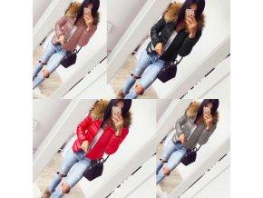 dámske oblečenie - zimné bundy - dámska lesklá bunda s kožušinkou - dámske zimné bundy - zimné bundy