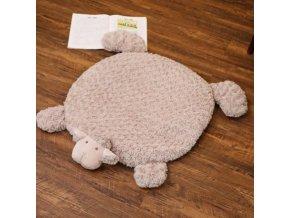 Vankúše - koberec - roztomilý malý koberec v tvare ovečky - detský koberec - ovce - výpredaj skladu