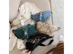 Dámske kabelky - ľadvinky - dámska módna chlpatá ľadvinka - dámska ľadvinka - kabelka - výpredaj skladu