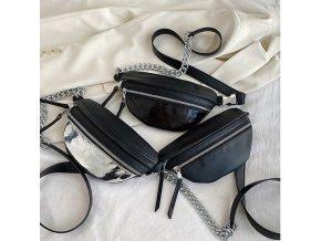 Dámske kabelky - ľadvinky - dámska ľadvinka v čiernej farbe - taška cez rameno - kabelky - dámske ľadvinky