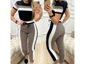 dámske oblečenie - módne súprava v dvoch variantoch - dámske nohavice - tričká - dámske tričká